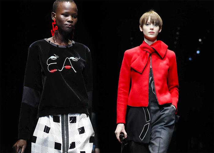 b8004278da98585 EMPORIO ARMANI Milan Fashion Week. 25 Февраль 2017 / VL / Милан. В рамках  Недели моды Джорджио Армани представил коллекцию молодежной линии одежды ...